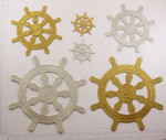 Iron On Patch Applique - Buddhist Dharma Wheel Symbol *Sizes* *Colors*
