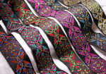"Jacquard Ribbon 2"" (50mm) Regal Plume *Colors* Priced per Yard"