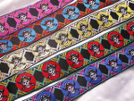 "Jacquard Ribbon 1 1/2"" (38mm) Pirates *Colors* Priced Per Yard"