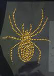 Rhinestud Applique - Gold Spider - 4 sizes