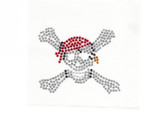 Rhinestud Applique - Buccaneer with Red skull cap