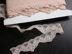 "Closeout Bolt Lace 1 1/2""  (38mm) Peach Scalloped - Beautiful 25 Yards"
