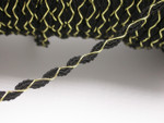 "Braid 3/8"" (10mm) Ric Rac Style Black & Metallic Gold Priced Per Yard"