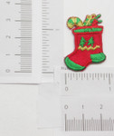 Iron On Patch Applique - Christmas Stocking.