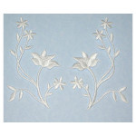 Iron On Patch Applique - Floral Spray Appliques White L&R Pair
