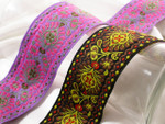 "Jacquard Ribbon 2 1/4"" (57.15mm) Per Yard"