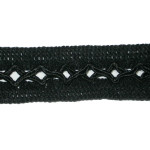 "Braid 1 1/4"" Fancy Black"