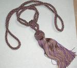 Lilac & Gold Fancy Curtain Tie Back Tassel
