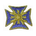 Iron On Patch Applique - Maltese Cross Blue