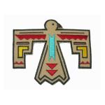 Iron On Patch Applique - Native American Bird