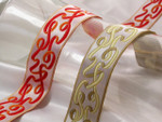 "Jacquard Ribbon 1 1/4"" (31.75mm) Curly Ribbons *Colors* Per Yard"