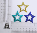 "Iron On Patch Applique - Open Star 1 1/2"" (38MM) *Colors*"