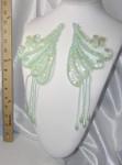 Collar Appliques Beaded L & R Pastel Green