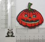 Iron On Patch Applique - Pumpkin with Face