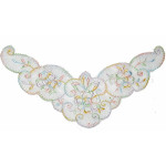 Yoke Applique - Sheer Multi Pastel Embroidery