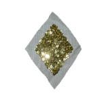 Sequin Applique Gold Diamond on Sheer