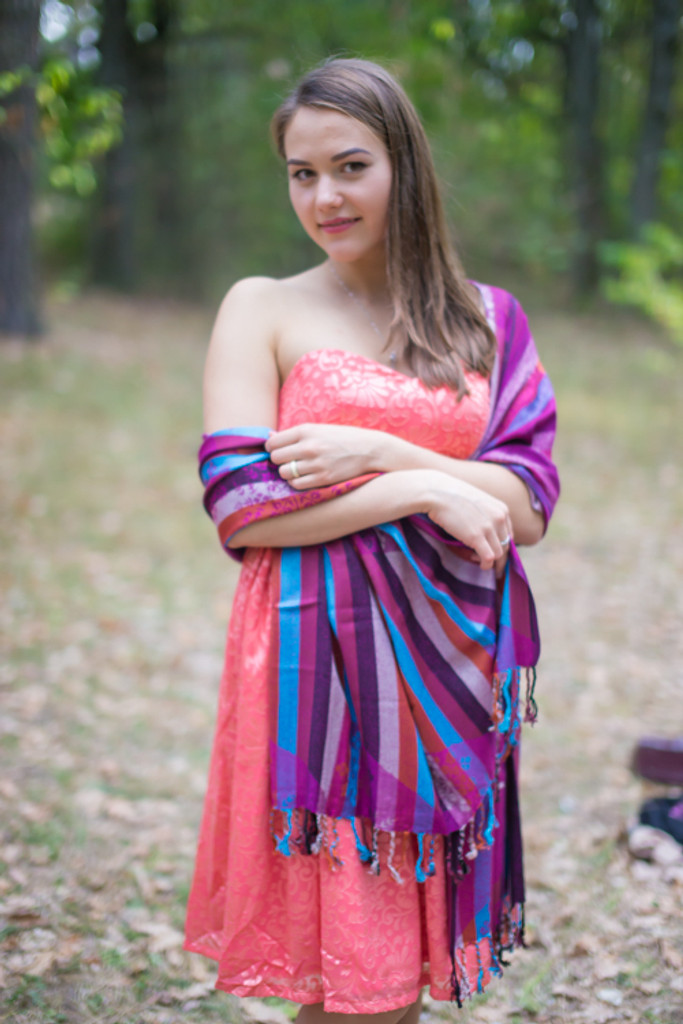 Multicolored Striped Pashmina Warm Shawls
