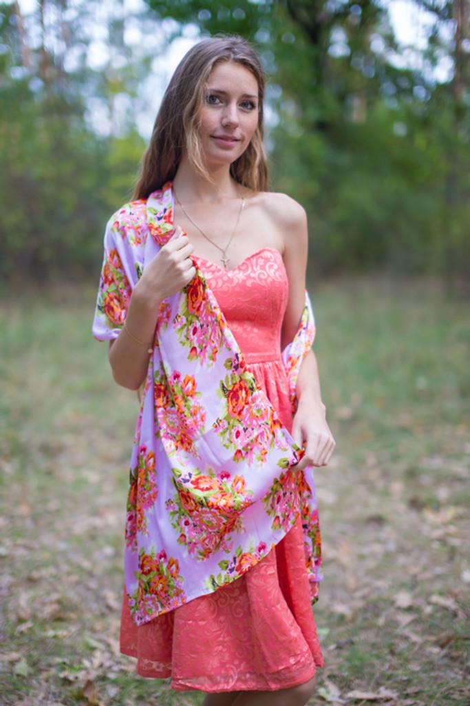 Pastel Floral Posy Silk Scarves