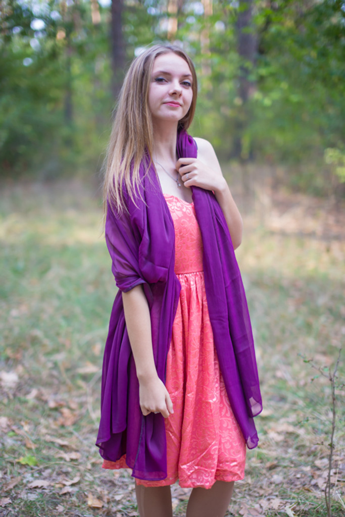 Silk Chiffon Iridescent Scarves