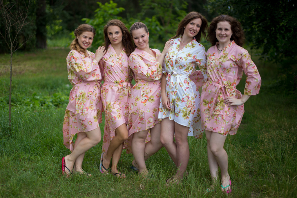 Flower Rain High Low Bridesmaids Robes