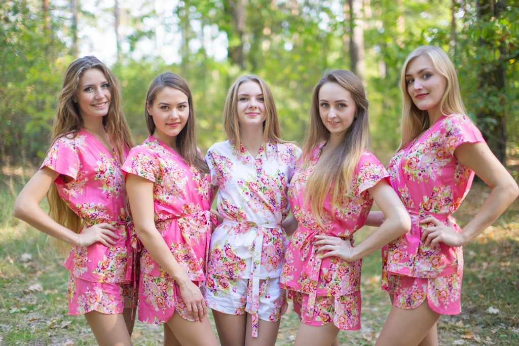 Shorts Sets for bridesmaids to get ready in