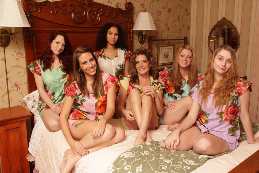 PJ Shorts Set for bridesmaids to get ready in