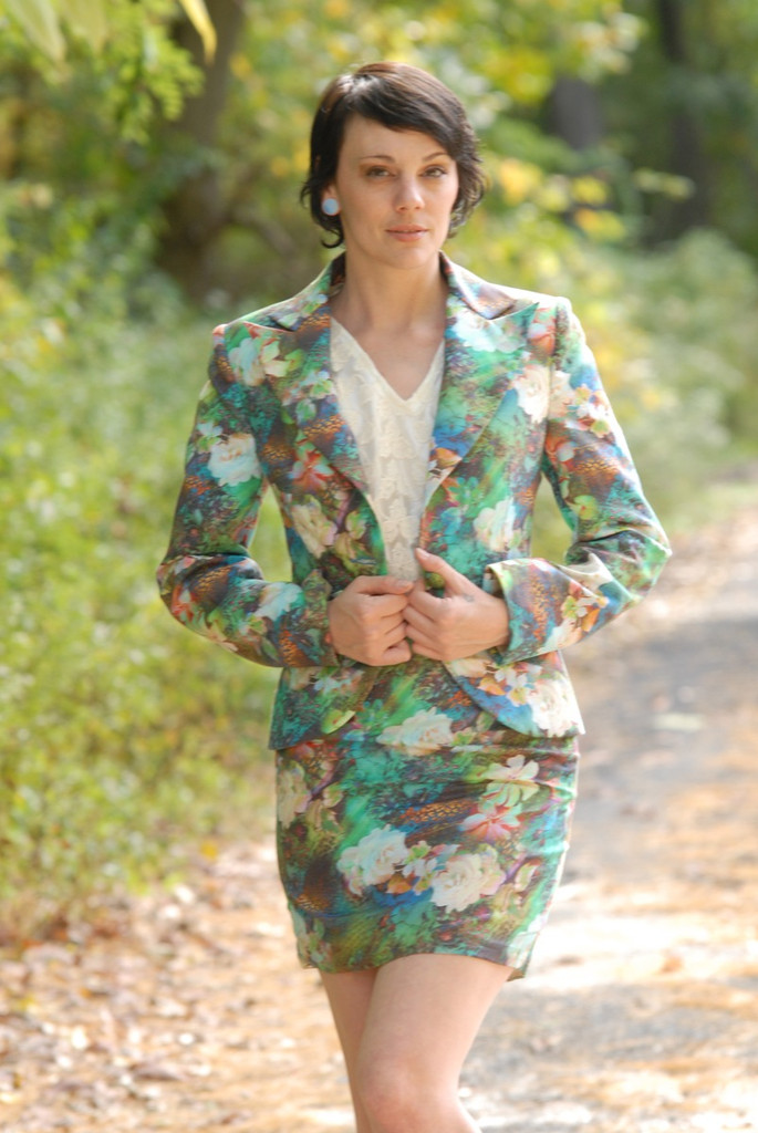 Color Me Green Bridesmaids Floral Suit for a Winter Wedding