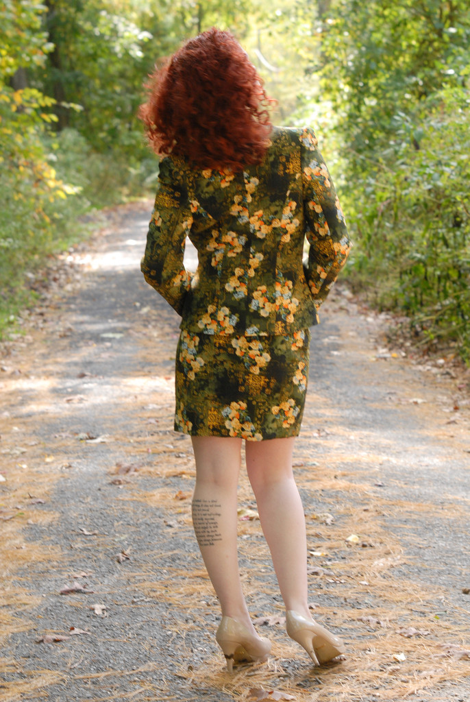 Floral Suit for a Winter Wedding - Garden Green