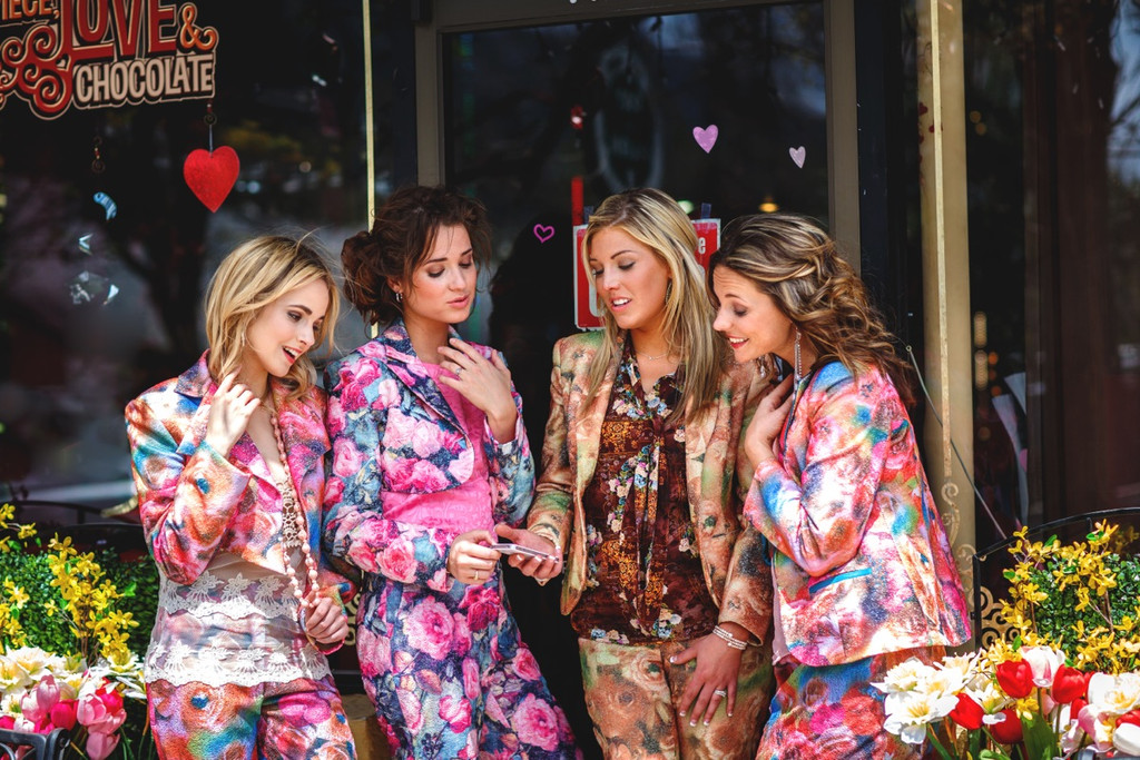 Floral Suits for a Lovely Winter Wedding