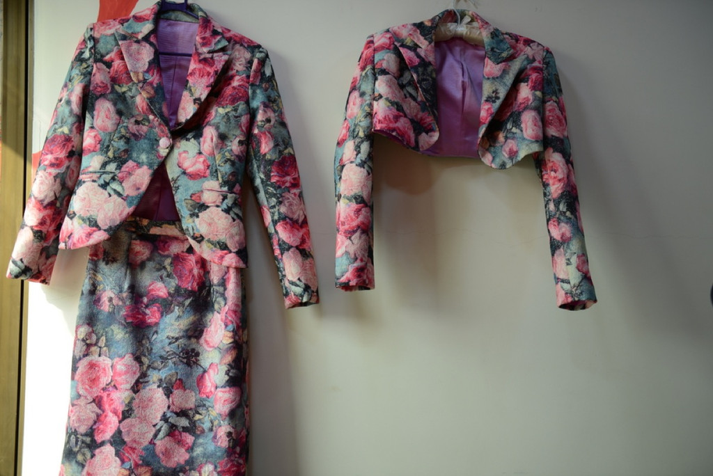 Floral Bolero with a matching skirt for a Winter Wedding