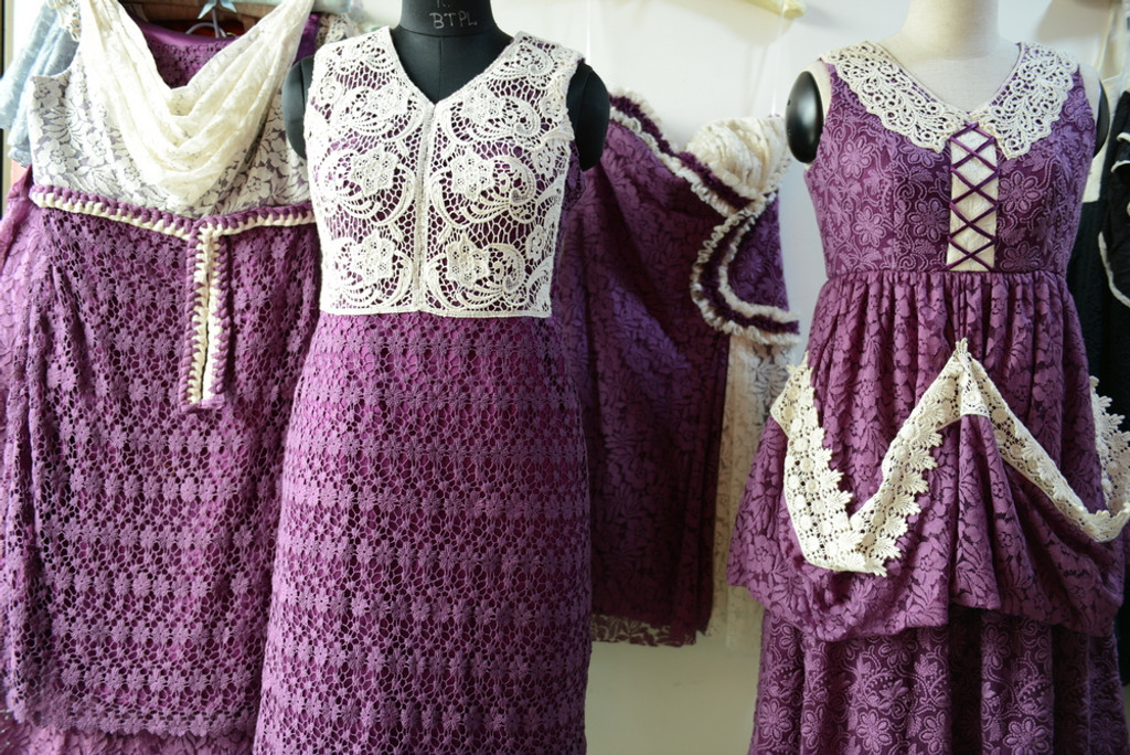 Dreamy Purple Wedding Palette Lace Bridesmaids Dresses