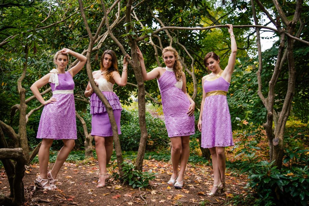 Dreamy Lilac Wedding Palette Bridesmaids Dresses