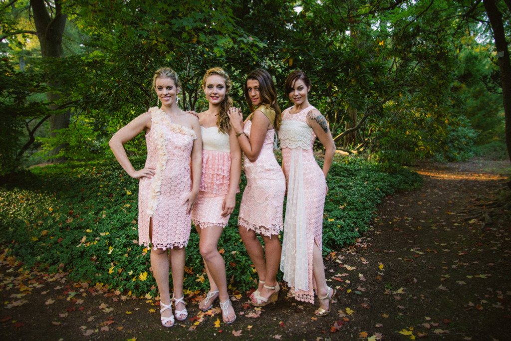 Dreamy Peach Wedding Palette Bridesmaids Dresses