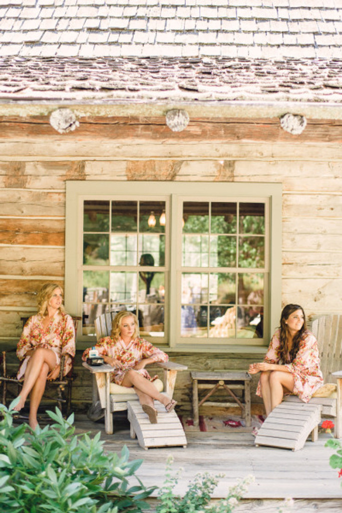 Pink Robes for bridesmaids   Getting Ready Bridal Robes