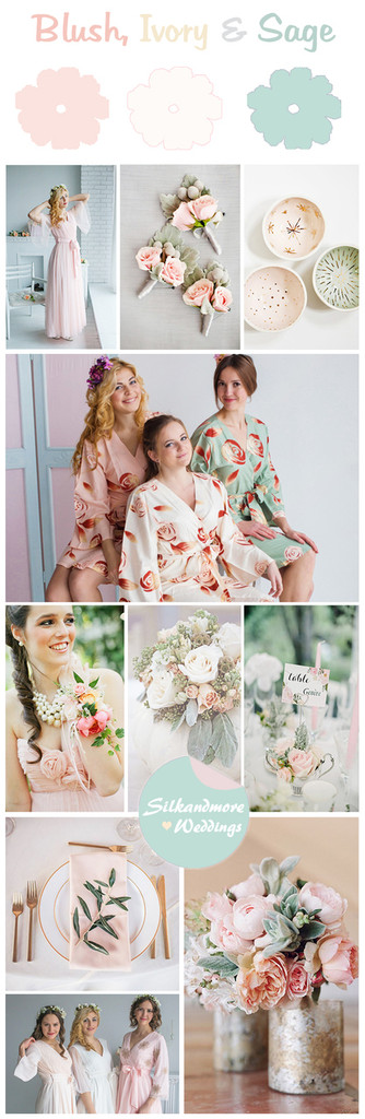 Blush, Ivory and Sage Wedding Color Palette