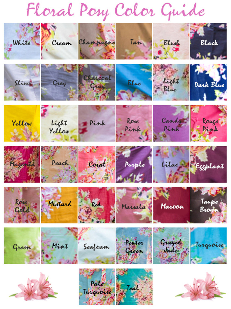 Floral Posy Pattern Color Guide