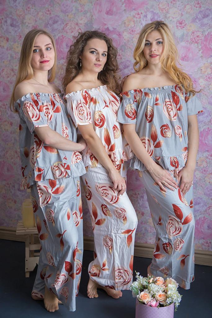Off-Shoulder Style PJs in a rumor among fairies Pattern_fl