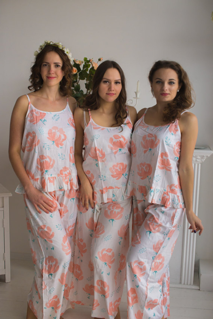 Frilly Style PJs in Blushing Flowers Pattern_long