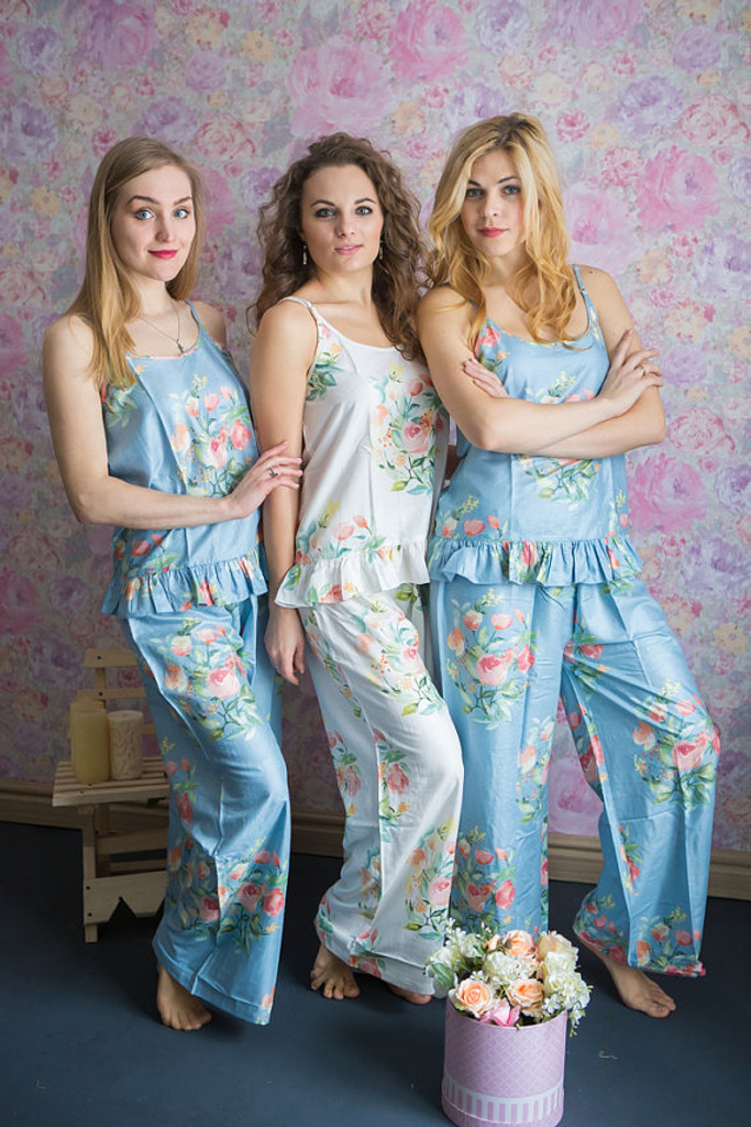 Frilly Style PJs in Angel Song Pattern_long