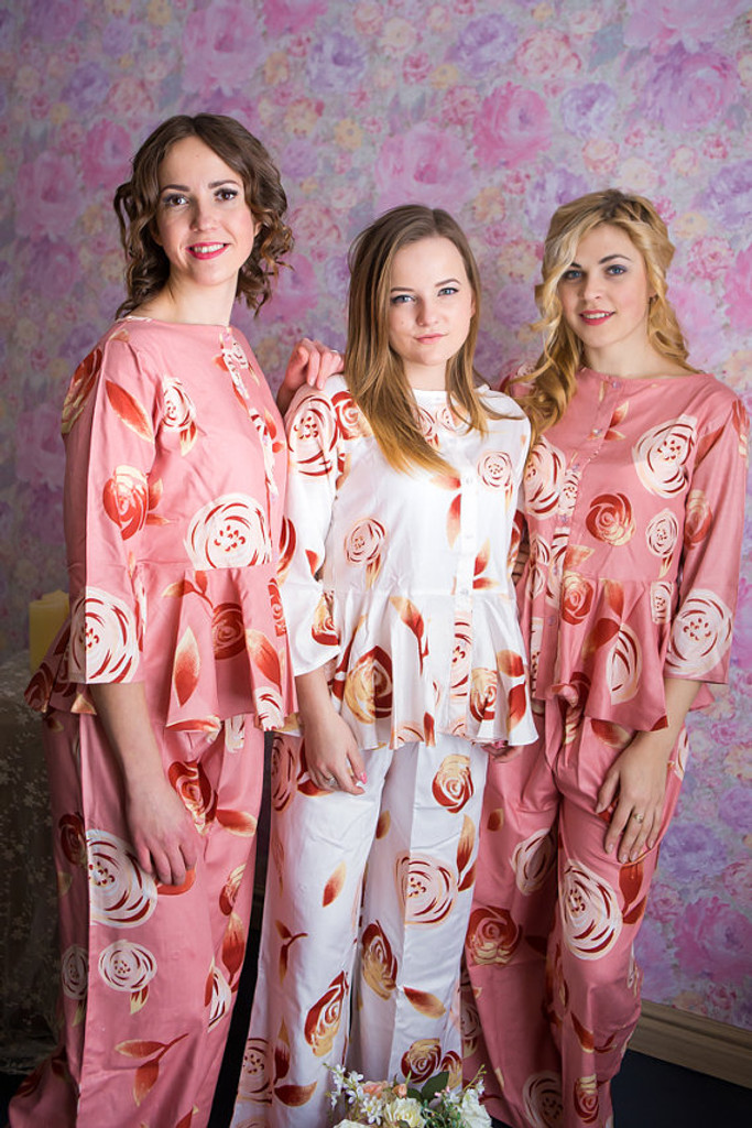 Peplum Style PJs in a rumor among fairies Pattern-long