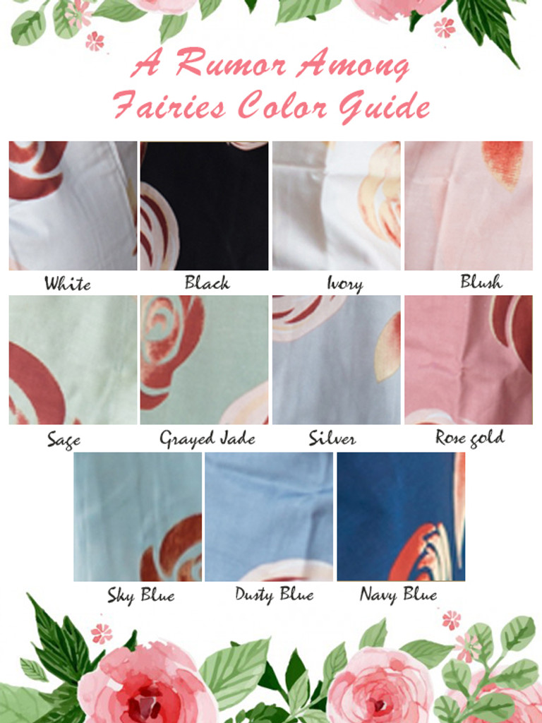 a rumor among fairies color guide