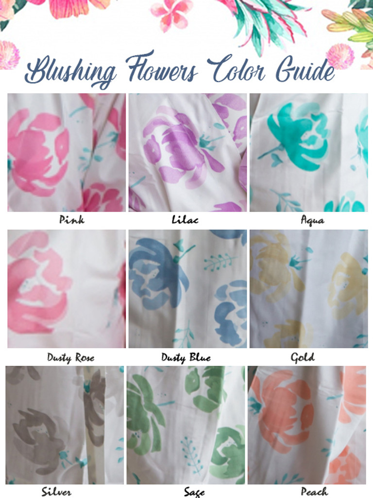 Blushing Flowers Pattern color guide