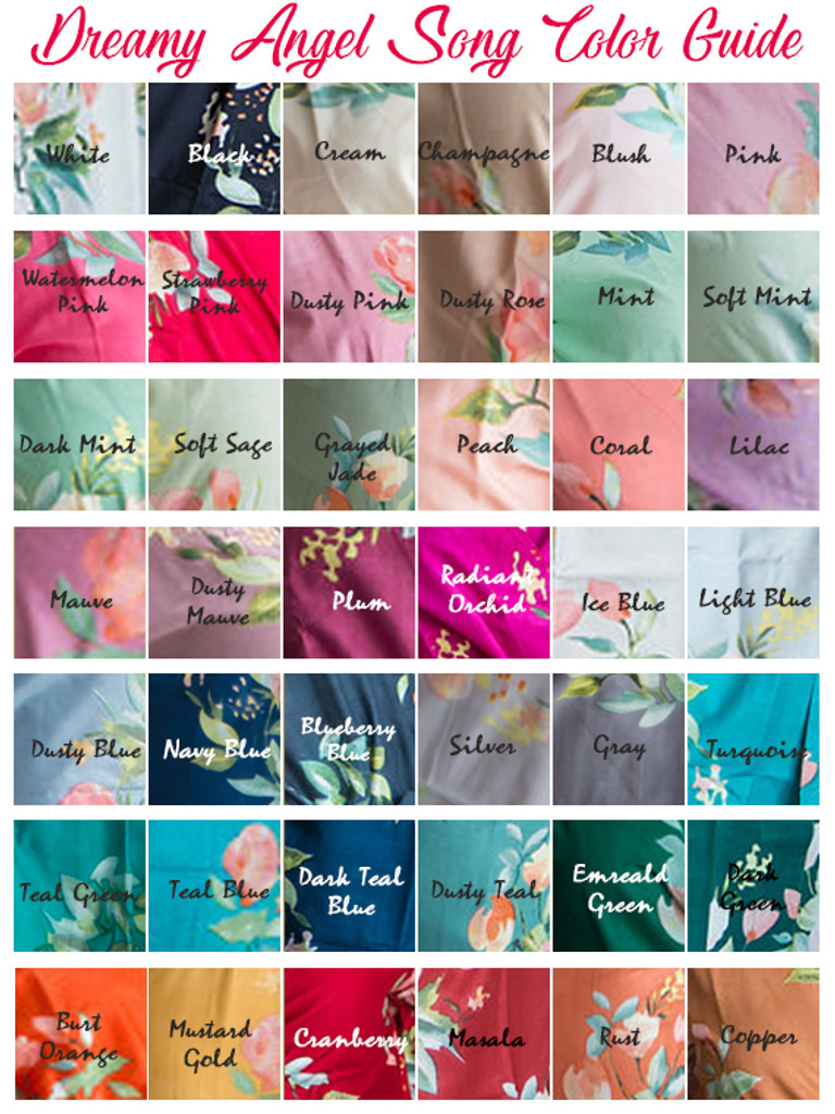 Dreamy Angel Song Pattern- Premium Turquoise Bridesmaids Robes
