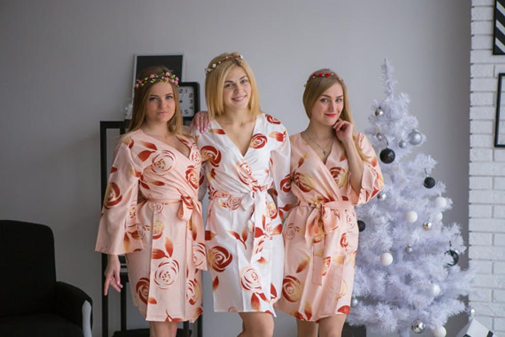 A rumor among Fairies Pattern- Premium Blush Bridesmaids Robes