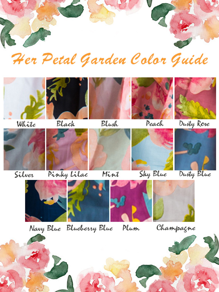 Her Petal Garden Pattern Color Guide