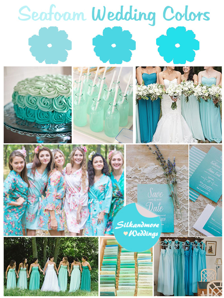 Assorted Aqua | SilkandMore Robes