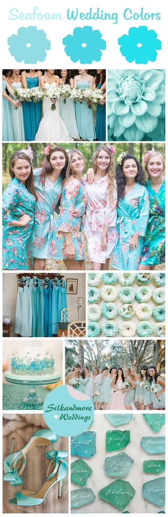 Sea foam wedding colors