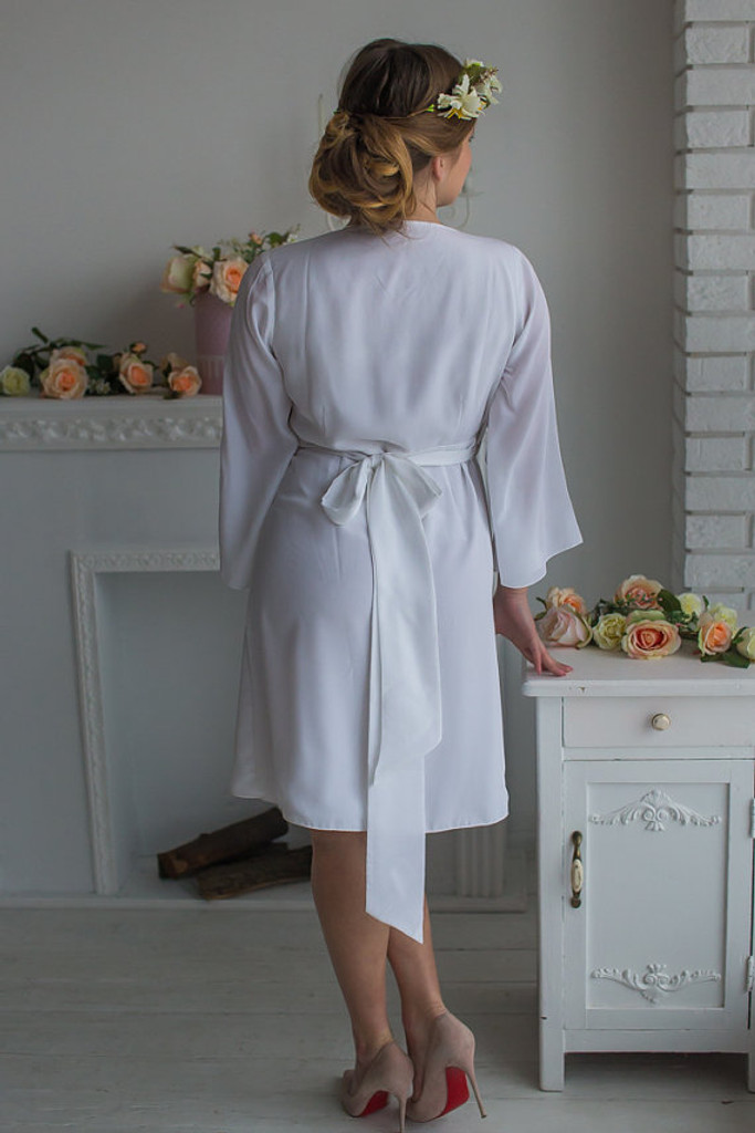 All White Bridal Robe from my Paris Inspirations Collection- Rosette Robe in White