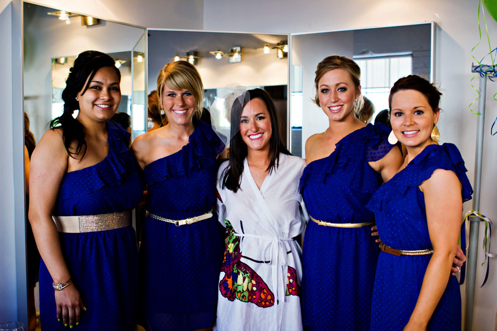 White Big Butterfly themed wedding Robes for bridesmaids | Getting Ready Bridal Robes
