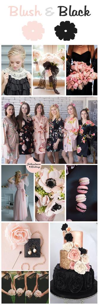 Blush & Black Wedding Colors Palette